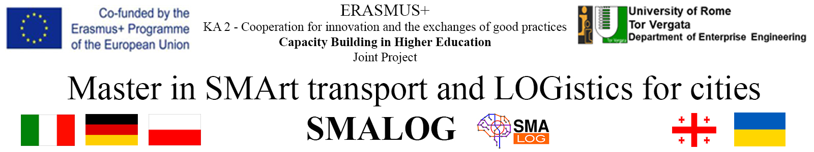 SmaLog - Master in SMArt transport and LOGistics for cities